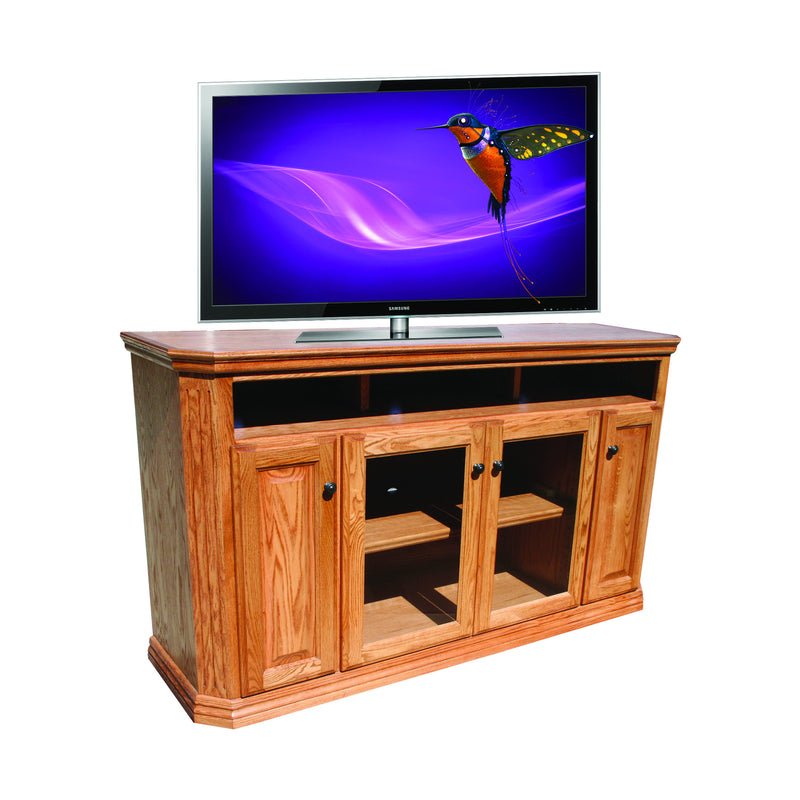 "Casano Traditional Oak 65"" Clipped Corner Entertainment Console"