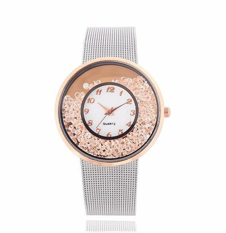 Rose Gold Gem Watch