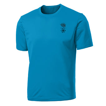 Shirt ~ Men's Mind Over Matter Sports Shirt - Neon Blue