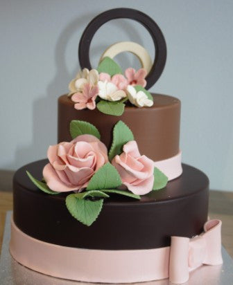 Chocolate Smash Cake - Pale Roses