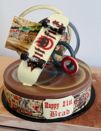 Chocolate Smash Cake - 21st Birthday Skater Theme