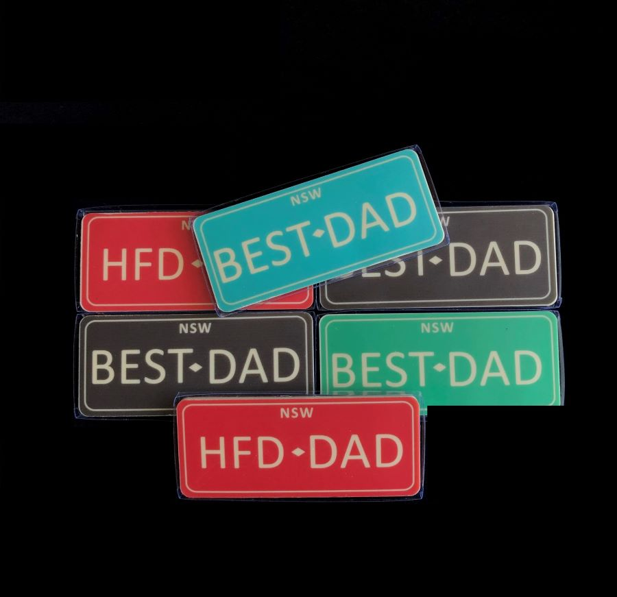 BEST DAD NUMBER PLATES