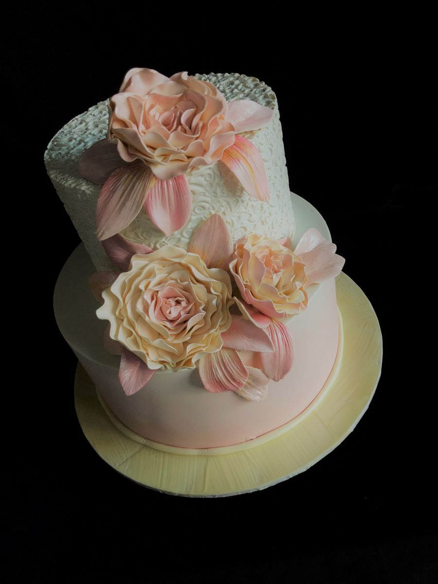 Peony Two Tier Smash Cake