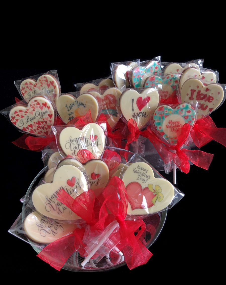 Heart ChocPop Printed