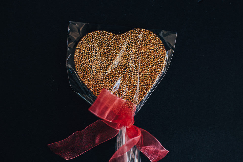 Chocolate Heart Sprinkle ChocPop