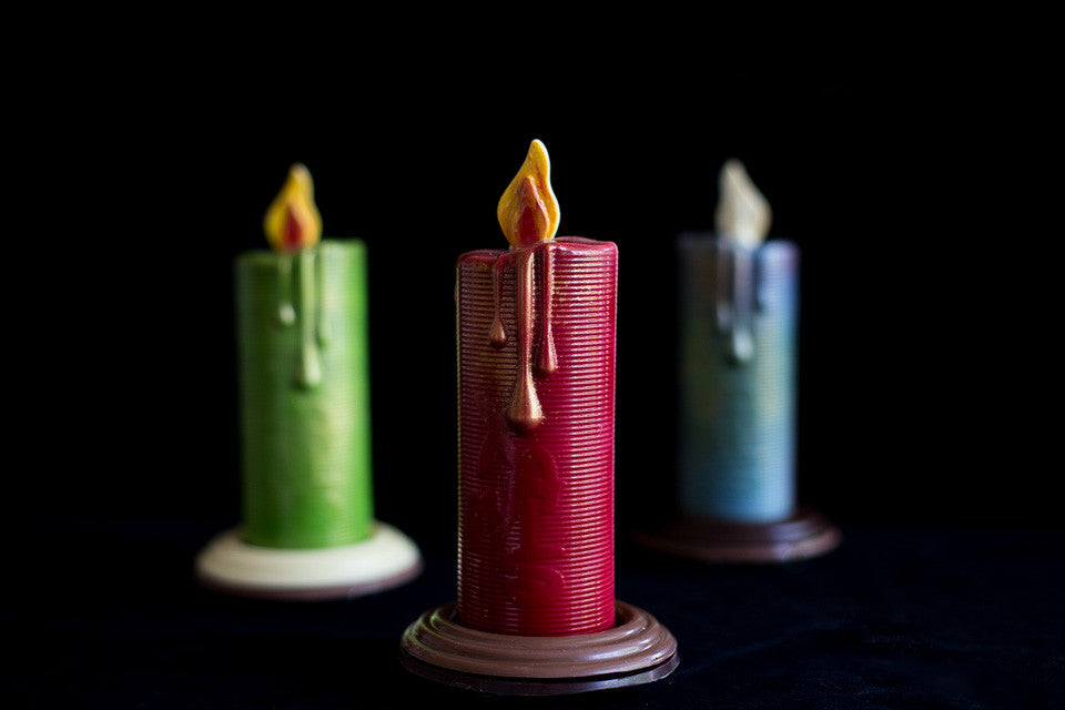 Chocolate Christmas Candle