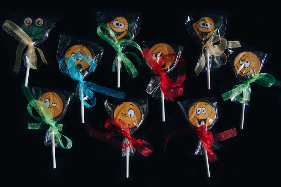 Crazy Funny Face Chocolate Lollipops