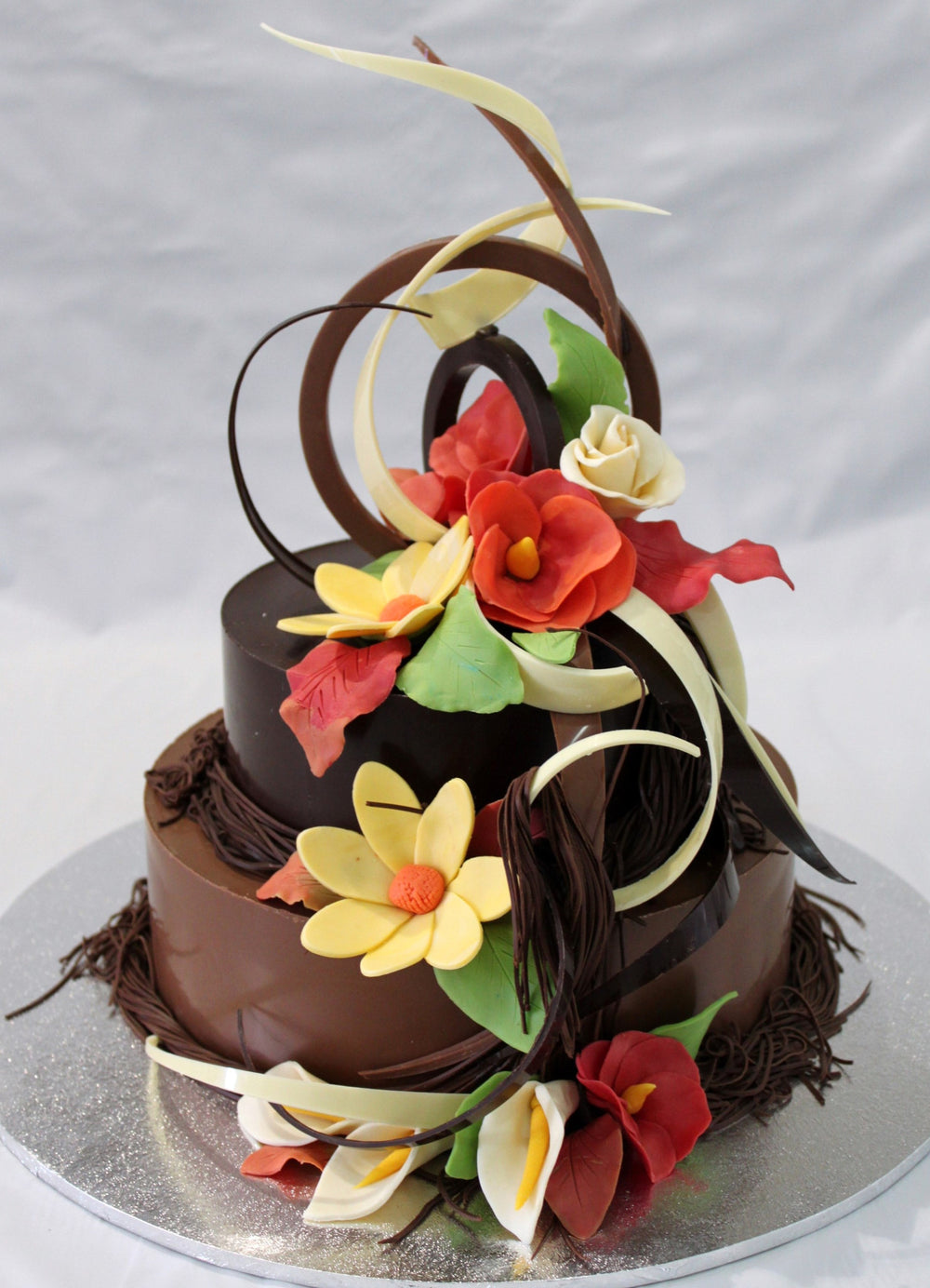 Chocolate Smash Cake - Bright Floral