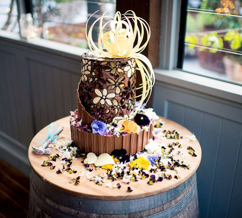 Wedding Chocolate Smash Cake