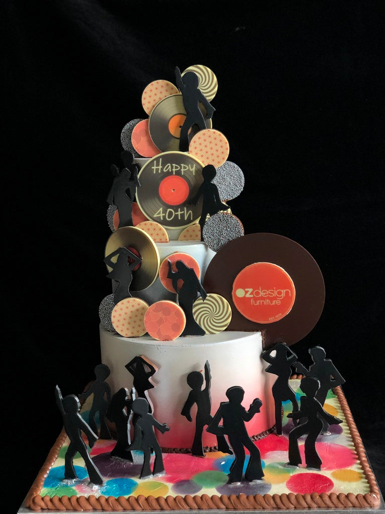 Custom OzDesign Chocolate Disco Smash Cake