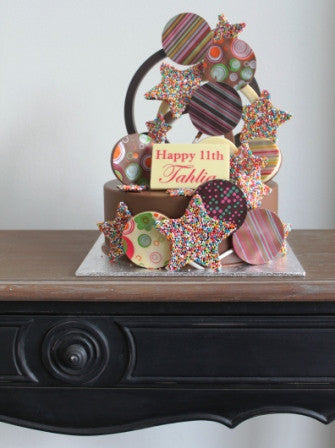 Chocolate Smash Cake - 18th Birthday Freckle Stars