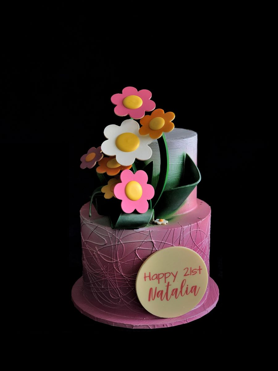 Cute Floral Smash Cake