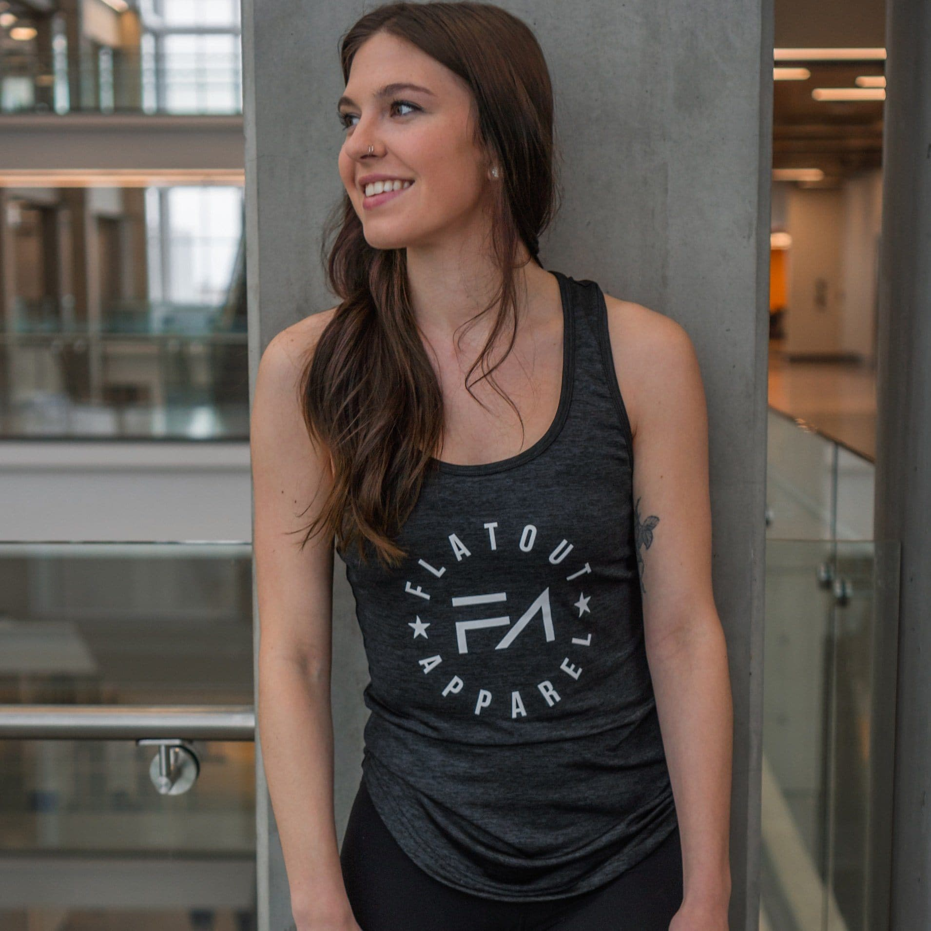 Aero Black Racer Tank - Flatout Apparel Inc
