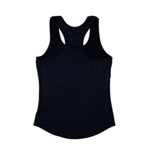 Aero Black Racer Tank (Back) - Flatout Apparel Inc
