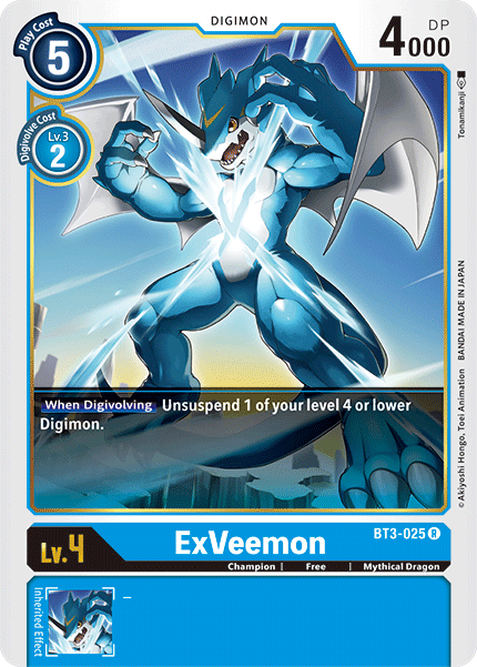 BT3-025 ExVeemon – Card Cavern