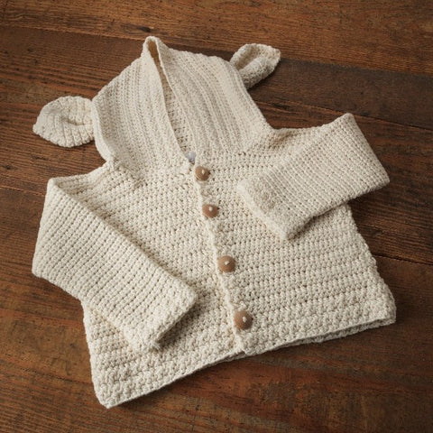 Lamb's Ear Cardigan Crochet Kit