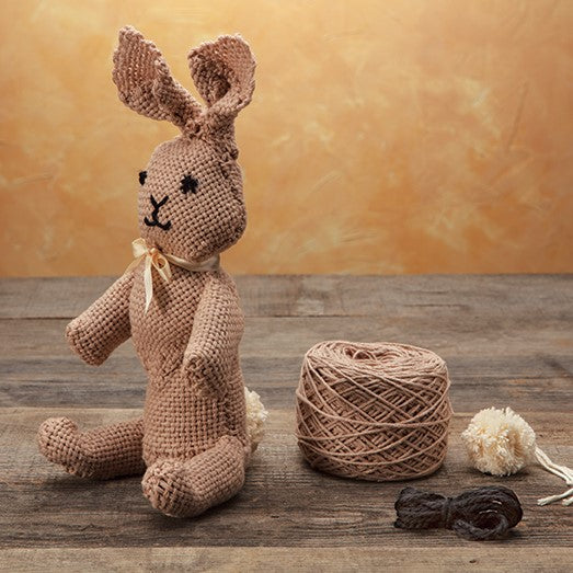 Trixie the Rabbit, a pin loom critter