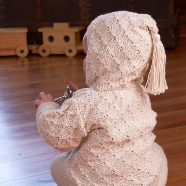 Tassel Organic Cotton Baby Cardigan Kit