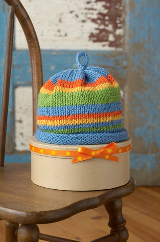 Happy Baby Striped Hat Kit in Gift Box