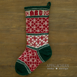 Christmas Diamonds Stocking Pattern