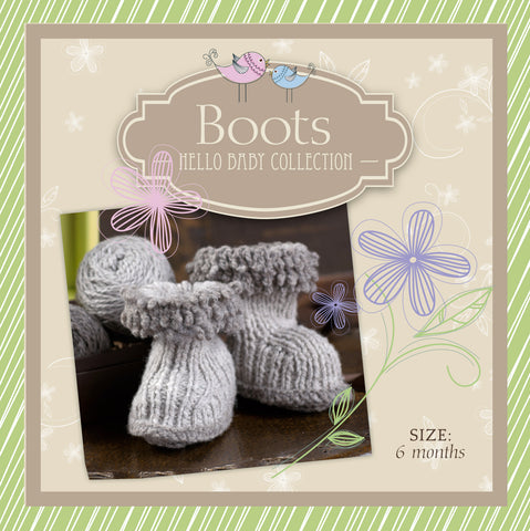 Hello Baby Boots Pattern