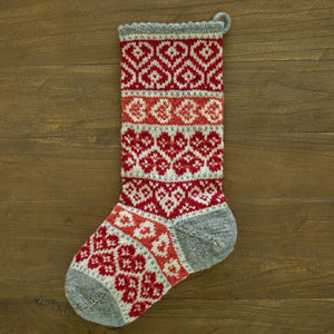 Winter Hearts Christmas Stocking
