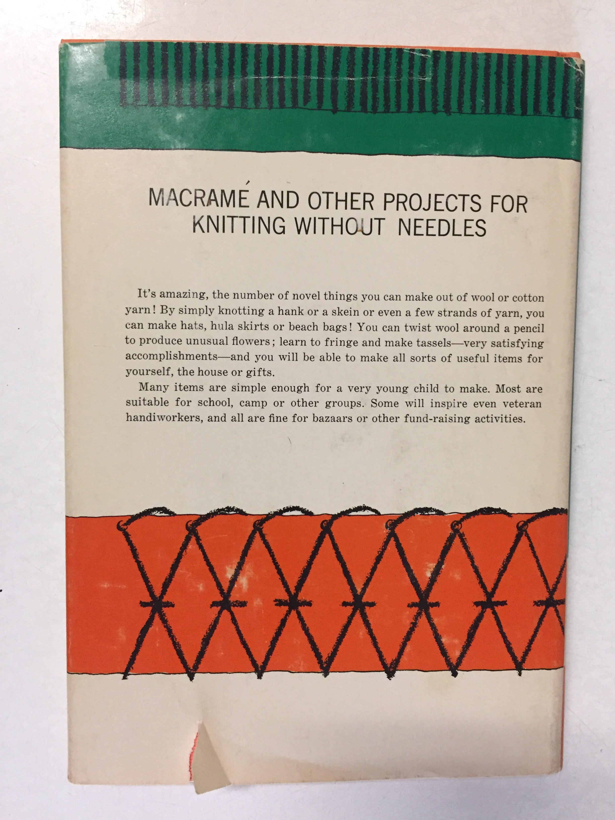 Macreme and Other Projects for Knitting Without Needles - Slickcatbooks