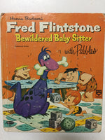 Hanna-Barbara's Fred Flintstone Bewildered Baby-Sitter with Pebbles