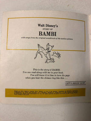 Walt Disney's The Story of Bambi - Slickcatbooks