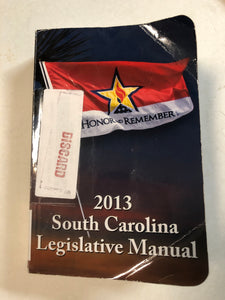 South Carolina Legislative Manual 2015 - Slick Cat Books
