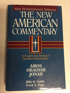 The New American Commentary Vol 19B Amos Obadiah Jonah - Slickcatbooks