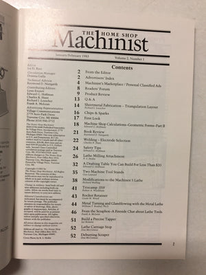 The Home Shop Machinist Jan/Feb 1983 - Slickcatbooks