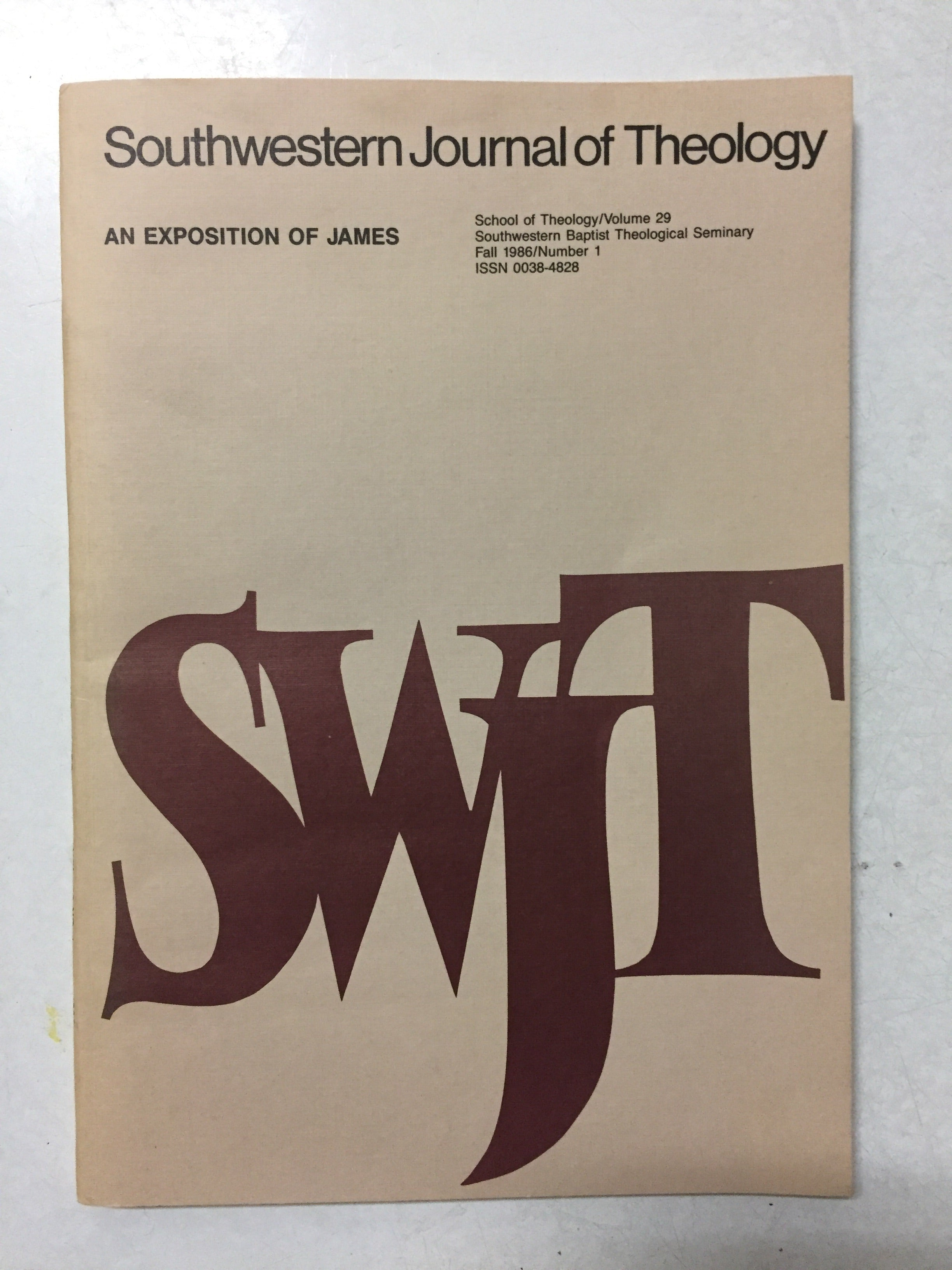 Southwestern Journal of Theology An Exposition of James - Slickcatbooks