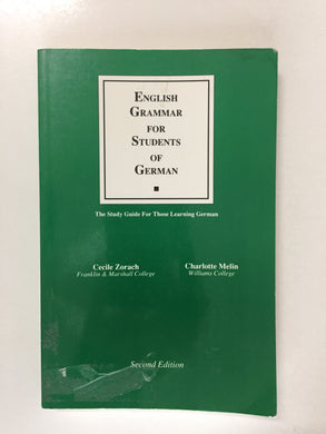 English Grammar For Students Of German - Slick Cat Books