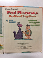 Hanna-Barbera's Fred Flintstone Bewildered Baby-Sitter With Pebbles - Slickcatbooks