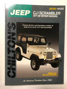 Jeep CJ/Scrambler 1971-86 Repair Manual - Slick Cat Books