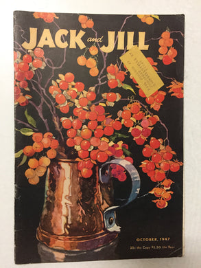 Jack and Jill Magazine October 1947 - Slickcatbooks