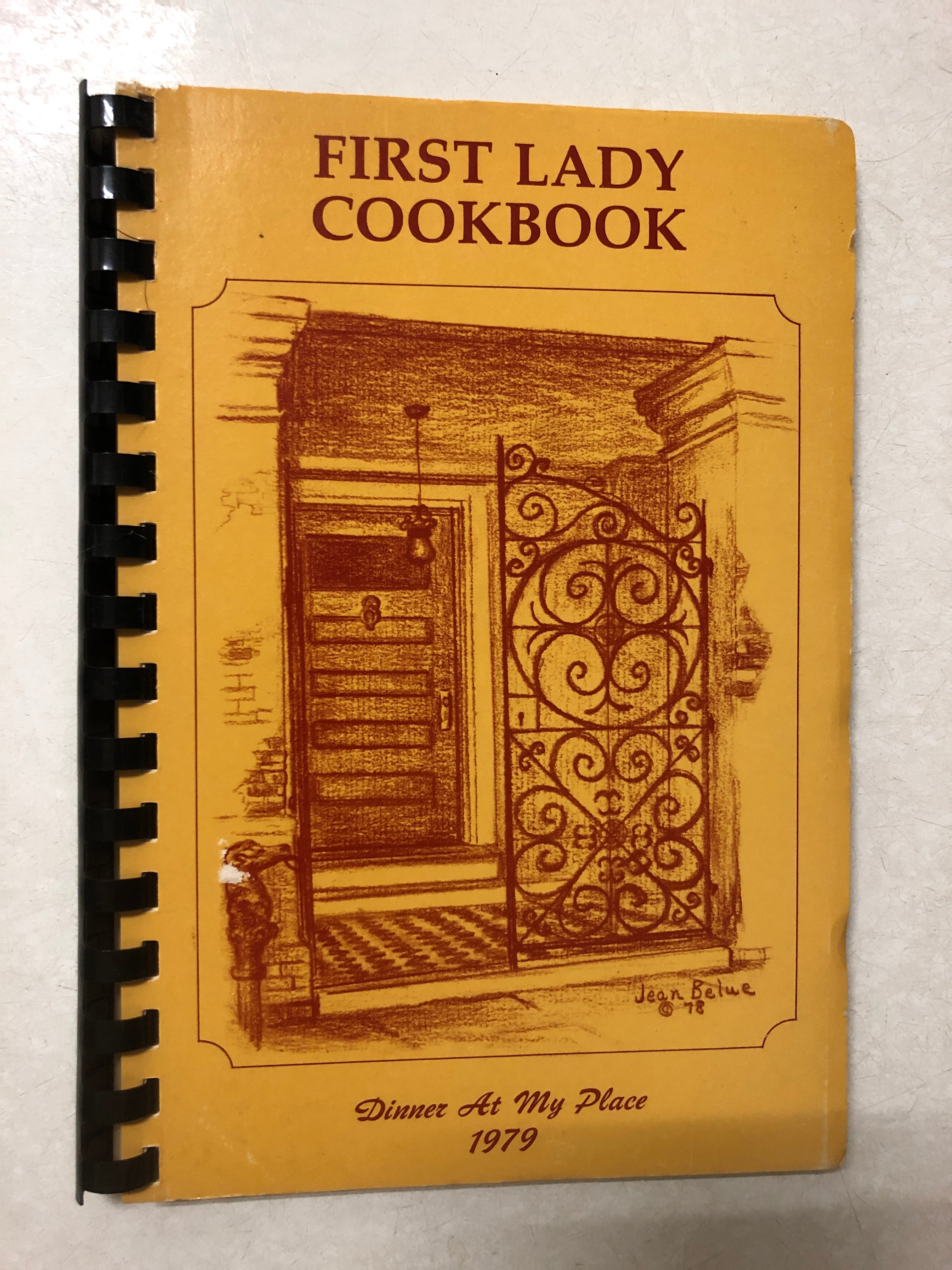 First Lady Cookbook Dinner At My Place 1979 - Slick Cat Books
