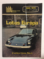 Lotus Europa Collection No. 1 1966-1974 - Slick Cat Books