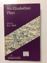 Six Elizabethan Plays - Slick Cat Books