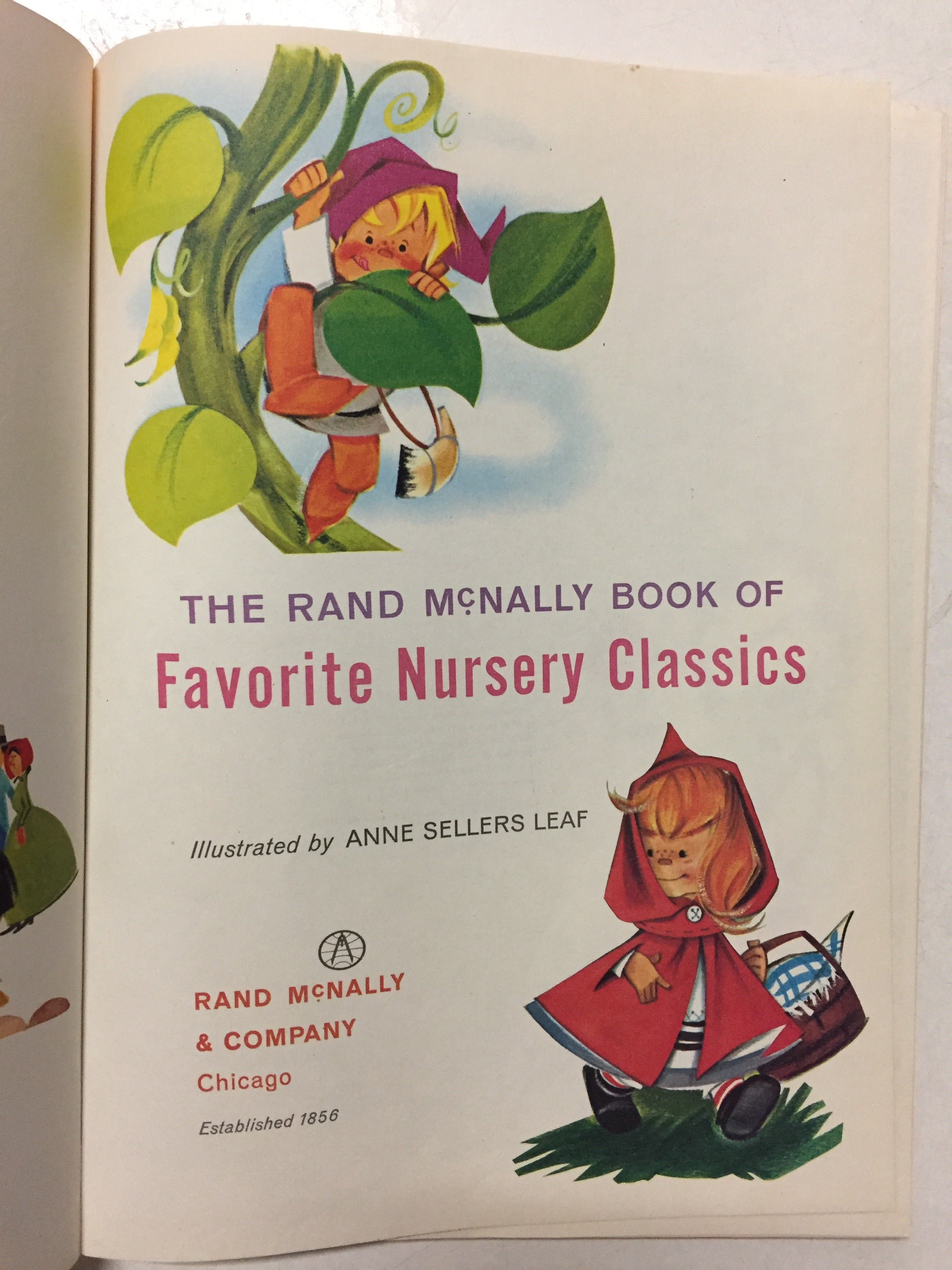 The Rand McNally Book of Favorite Nursery Classics - Slickcatbooks