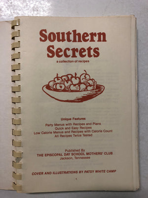 Southern Secrets (A Collection of Recipes) - Slickcatbooks