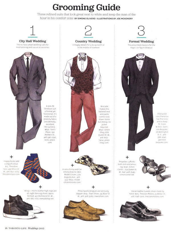 Toronto Life Magazine Grooming Guide with Pomp & Ceremony Bowtie
