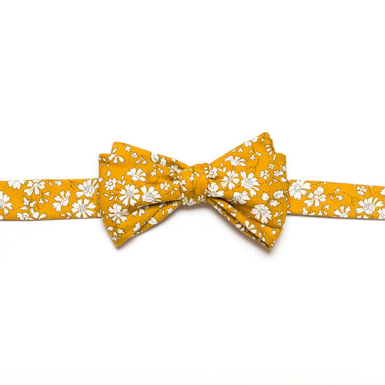 Liberty of London Capel Mustard Bow Tie