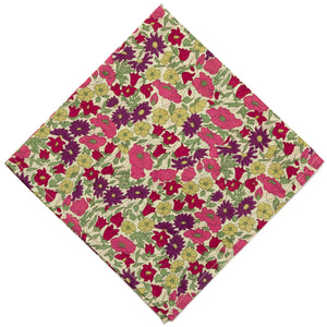 Liberty of London Poppy & Daisy Pocket Square