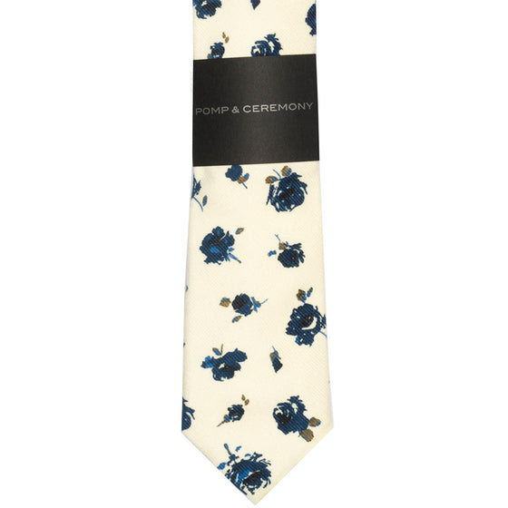 Liberty of London Blue Rose Tie