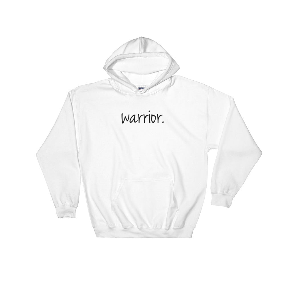 I Am Collection Warrior Cozy Hoodie, White