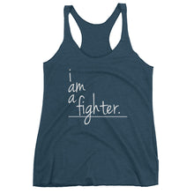 I Am Collection Women's Fighter Triblend Tank, White Text, Multiple Colors