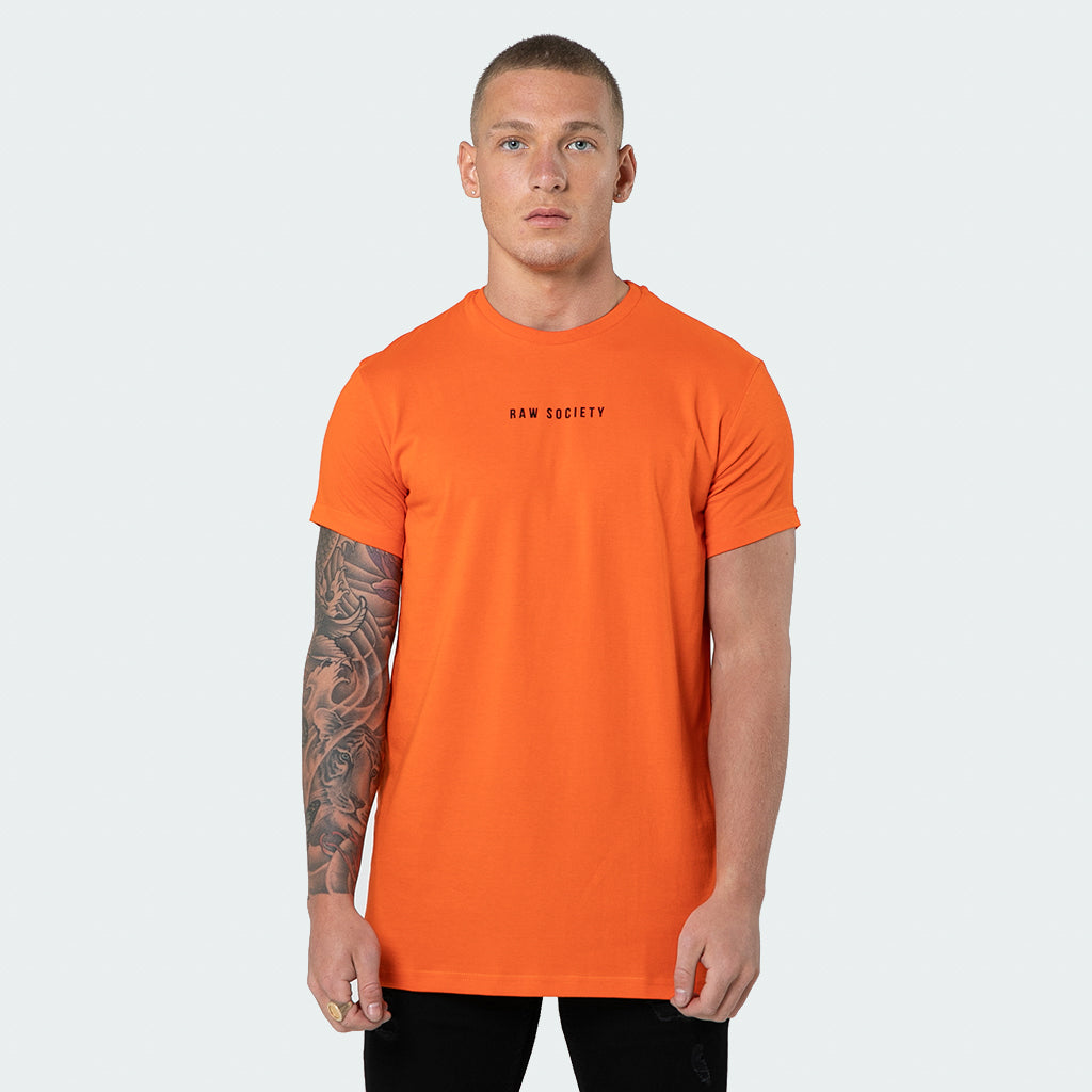 NEW Signature - Orange Short Sleeve T shirt - Raw Society