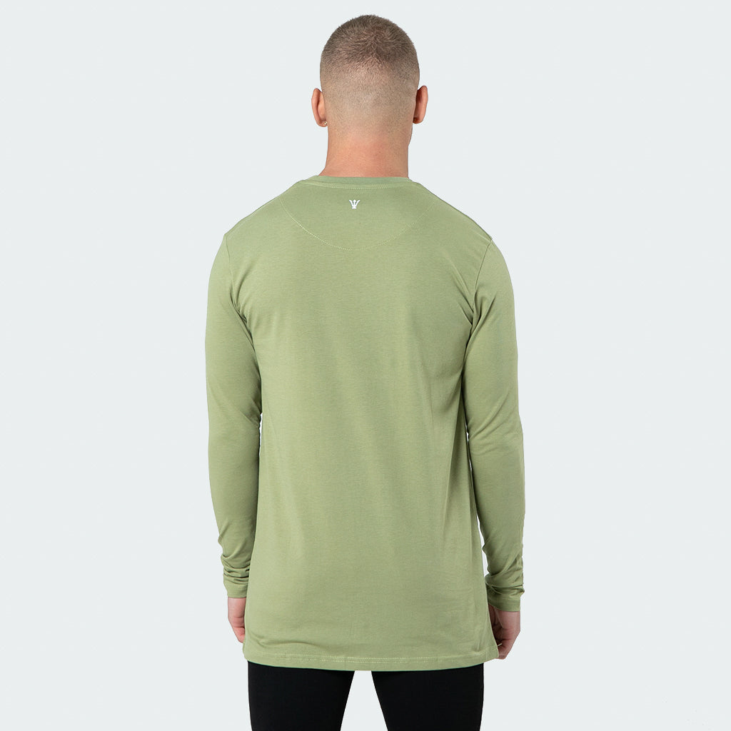 NEW Signature - Khaki Long Sleeve T shirt - Raw Society